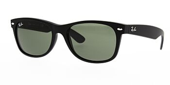 Ray Ban Sunglasses New Wayfarer Black Rubber RB2132 622 52