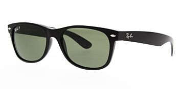 Ray Ban Sunglasses New Wayfarer Black RB2132 901 58 Polarised 55