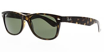 Ray Ban Sunglasses New Wayfarer Tortoise RB2132 902 58 Polarised 52