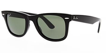 Ray Ban Sunglasses Wayfarer Black RB2140 901 58 Polarised 54