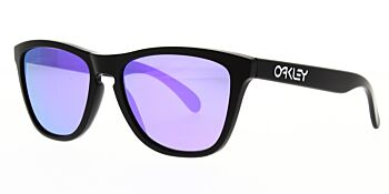 Oakley Sunglasses Model Frogskins Colour Matte Black/Violet Iridium OO9013 24-298