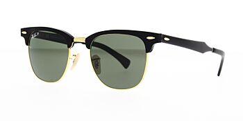 Ray Ban Sunglasses Clubmaster Aluminium RB3507 136 N5 Polarised 51