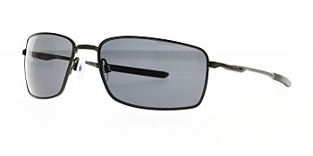 Oakley Sunglasses Square Wire Carbon/Grey OO4075-04 Polarised 60