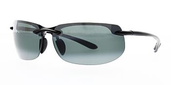 Maui Jim Sunglasses Banyans Gloss Black/Neutral Grey Polarised 412-02