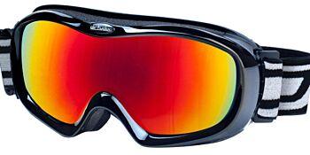 Dirty Dog Ski Goggle Scope Shiny Black Red Fusion Mirror Lens DD54063
