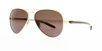 Ray Ban Sunglasses Chromance Aviator RB8317CH 001 6B Polarised 58