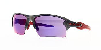 Oakley Sunglasses Flak 2.0 XL Matte Grey Smoke/Prizm Road OO9188-0459
