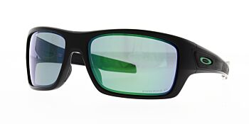 Oakley Sunglasses Turbine Matte Black Prizm Jade Polarised OO9263-4563