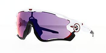 Oakley Sunglasses Jaw Breaker Polished White/Prizm Road OO9290-0531