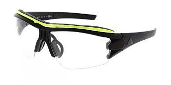 Adidas Sunglasses Evil Eye Halfrim Pro Matte Black/Glow Vario Clear AD07 75 9300 00 XS