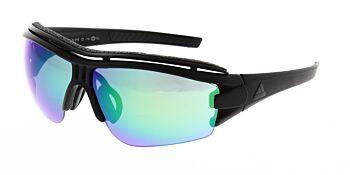 Adidas Sunglasses Evil Eye Halfrim Pro Matte Black Green AD07 75 9100 00 XS