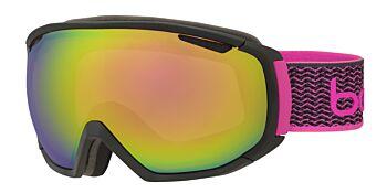 Bolle Goggles Tsar Matte Black & Neon Pink/Rose Gold 21649