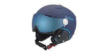 Bolle Snow Helmets Backline Visor Premium Soft Navy & Cyan Small 31421
