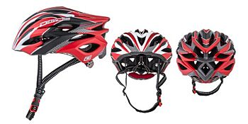 Dirty Dog Cycle Helmet Polaris Matte Red White Black L-XL 47021