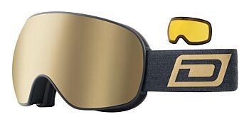 Dirty Dog Eyewear Goggles Mutant 2.0 Matte Black Frame Gold Mirror 54239