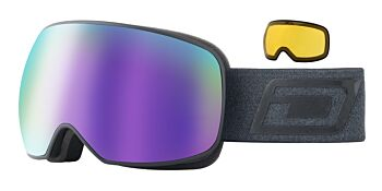 Dirty Dog Eyewear Goggles Mutant Prophecy Matt Black Frame Purple Mirror 54250