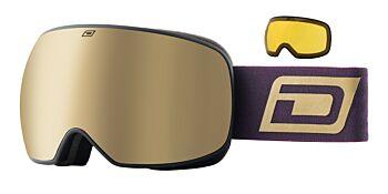 Dirty Dog Eyewear Goggles Mutant Prophecy Matte Black Frame Gold Mirror 54252