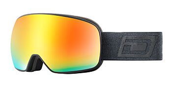 Dirty Dog Eyewear Goggles Streif Matte Black Frame Photochromic Orange 54247