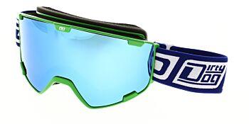Dirty Dog Goggles Avalanche Fluro Green Blue Fusion Mirror DD54216