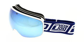 Dirty Dog Ski Goggle Mutant 0.5 Junior White Grey/Blue Fusion Mirror/Yellow DD54193