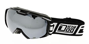 Dirty Dog Ski Goggle Velocity Black Silver Mirror DD54197