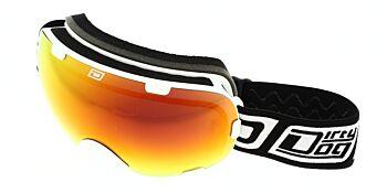 Dirty Dog Ski Goggle Afterburner White Red Fusion Mirror DD54155