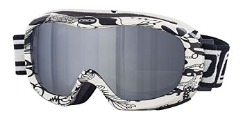 Dirty Dog Ski Goggle Scope White-Black Grey Flash Mirror DD54125