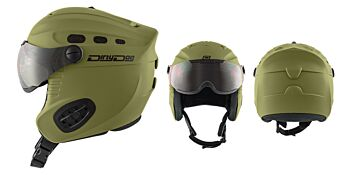 Dirty Dog Snow Helmets Apache Matte Khaki Medium 46269