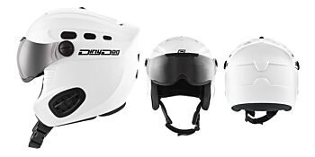 Dirty Dog Snow Helmets Apache Matte White Small 46096