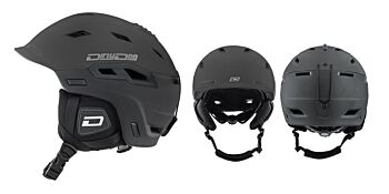 Dirty Dog Snow Helmets Crater Matte Black Small 46264