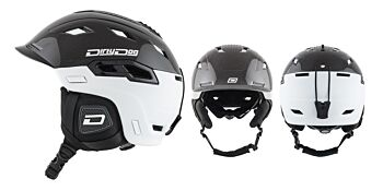 Dirty Dog Snow Helmets Crater Matte Black White Small 46237
