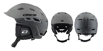 Dirty Dog Snow Helmets Crater Matte Tungsten Black Small 46241