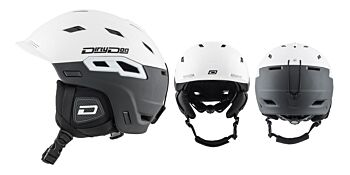 Dirty Dog Snow Helmets Crater Matte White Black Small 46233