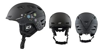 Dirty Dog Snow Helmets Zodiak Matte Black Snowflake Small 46245