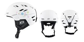 Dirty Dog Snow Helmets Zodiak Matte White Snowflake Medium 46250