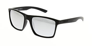 Dirty Dog Sunglasses Volcano Satin Black/Grey Silver Mirror Polarised 53435