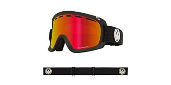 Dragon Goggles D1 OTG Black/Lumalens Red Ionized & Lumalens Rose 34798 332