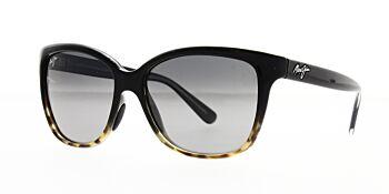 Maui Jim Sunglasses Starfish Black With Tortoise Neutral Grey Polarised GS744-02T