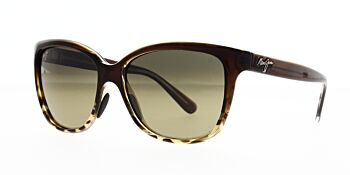 Maui Jim Sunglasses Starfish Translucent Chocolate With Tortoise HCL Bronze Polarised HS744-01T