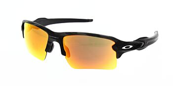 Oakley Sunglasses Flak 2.0XL Black Camo Prizm Ruby OO9188-8659