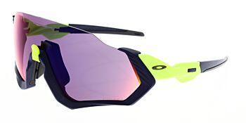 Oakley Sunglasses Flight Jacket Matte Navy/Retina Burn Prizm Road OO9401-0537