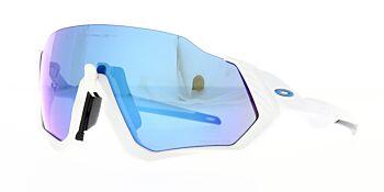 Oakley Sunglasses Flight Jacket Matte White Polished White Prizm Sapphire Iridium OO9401-0237
