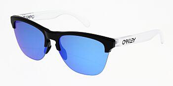 Oakley Sunglasses Frogskins Lite Matte Black/Matte Clear Prizm Sapphire Iridium OO9374-0263