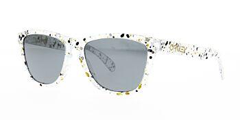 Oakley Sunglasses Frogskins Splattermetallic Clear Prizm Black Iridium OO9013-G655
