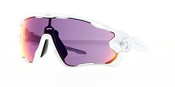 Oakley Sunglasses Jaw Breaker Polished White Prizm Road OO9290-5531