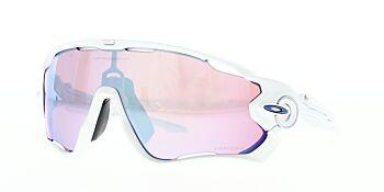 Oakley Sunglasses Jaw Breaker Polished White Prizm Sapphire Snow OO9290-2131