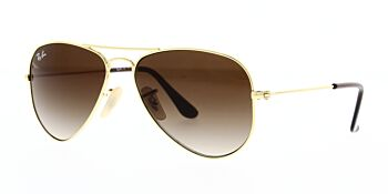Ray Ban Junior Aviator Sunglasses RJ9506S 223 13 52
