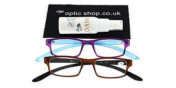 Reading Glasses Bundle R9 Purple/Brown +1.00
