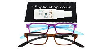Reading Glasses Bundle R9 Purple/Brown +1.50