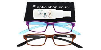 Reading Glasses Bundle R9 Purple/Brown +2.50